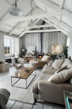 Rustic modern farmhouse living room decor ideas 16
