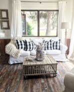 Rustic modern farmhouse living room decor ideas 19