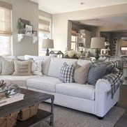 Rustic modern farmhouse living room decor ideas 28