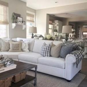 Rustic modern farmhouse living room decor ideas 28
