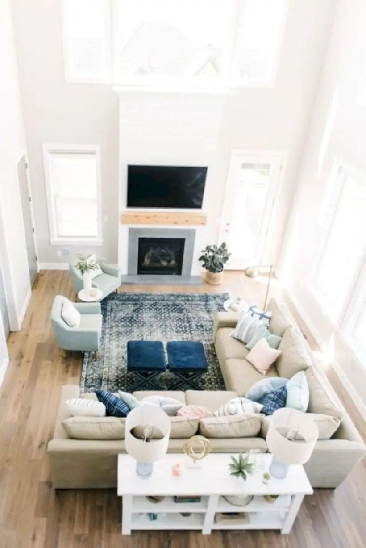 Rustic modern farmhouse living room decor ideas 43