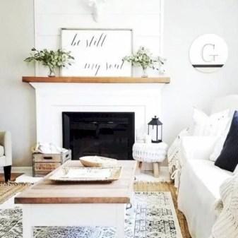 Rustic modern farmhouse living room decor ideas 55