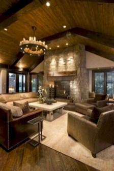 Rustic modern farmhouse living room decor ideas 56