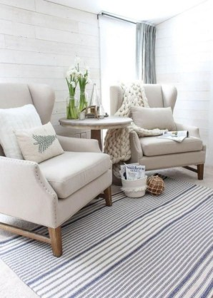 Rustic modern farmhouse living room decor ideas 66