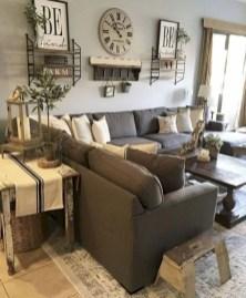 Rustic modern farmhouse living room decor ideas 72