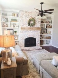 Rustic modern farmhouse living room decor ideas 79