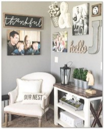 Rustic modern farmhouse living room decor ideas 80