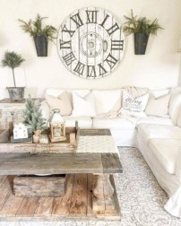 Rustic modern farmhouse living room decor ideas 82