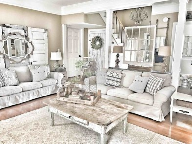 Rustic modern farmhouse living room decor ideas 83