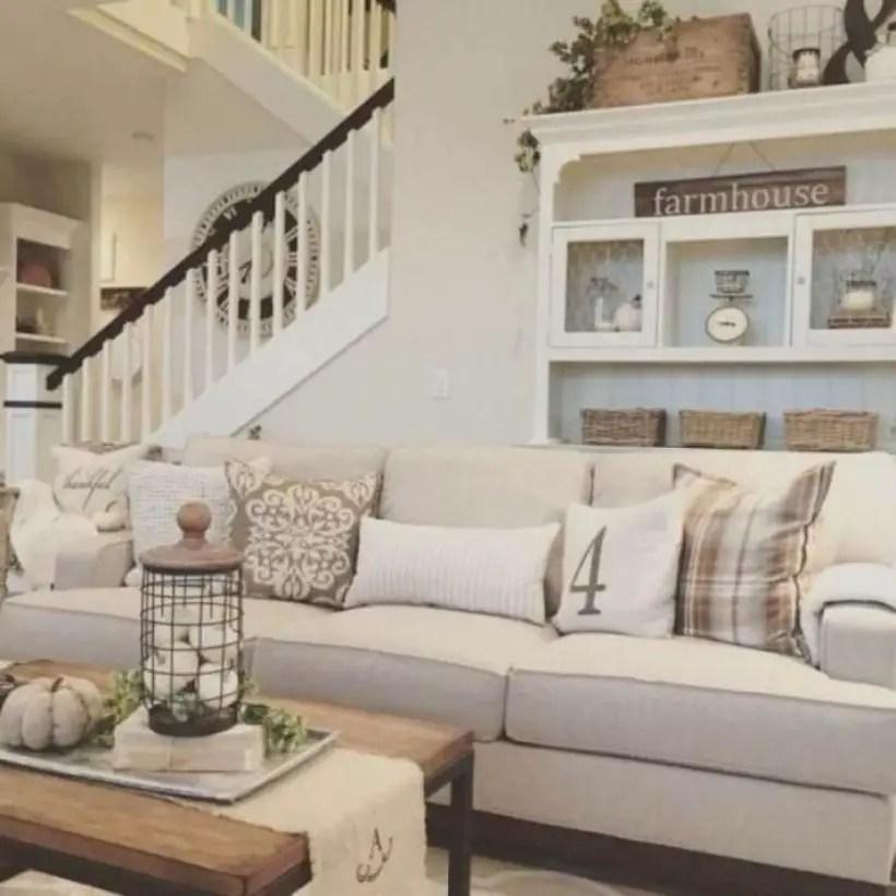 Rustic modern farmhouse living room decor ideas 88