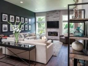 Rustic modern farmhouse living room decor ideas 99