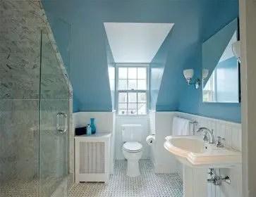Unique attic bathroom design ideas for your private haven 07