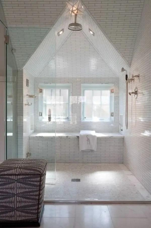 Unique attic bathroom design ideas for your private haven 12