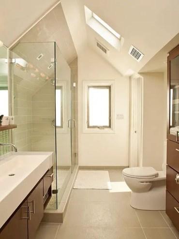 Unique attic bathroom design ideas for your private haven 16