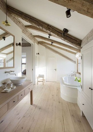 Unique attic bathroom design ideas for your private haven 51
