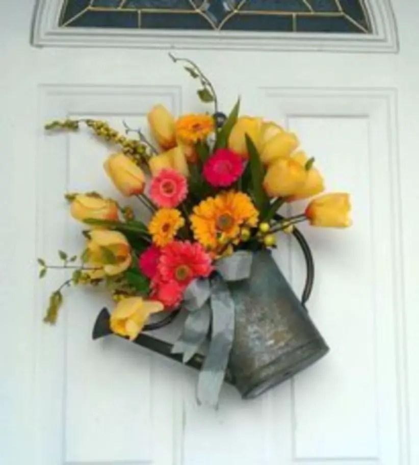Beautiful decor ideas to hang on your door that aren't wreaths 11