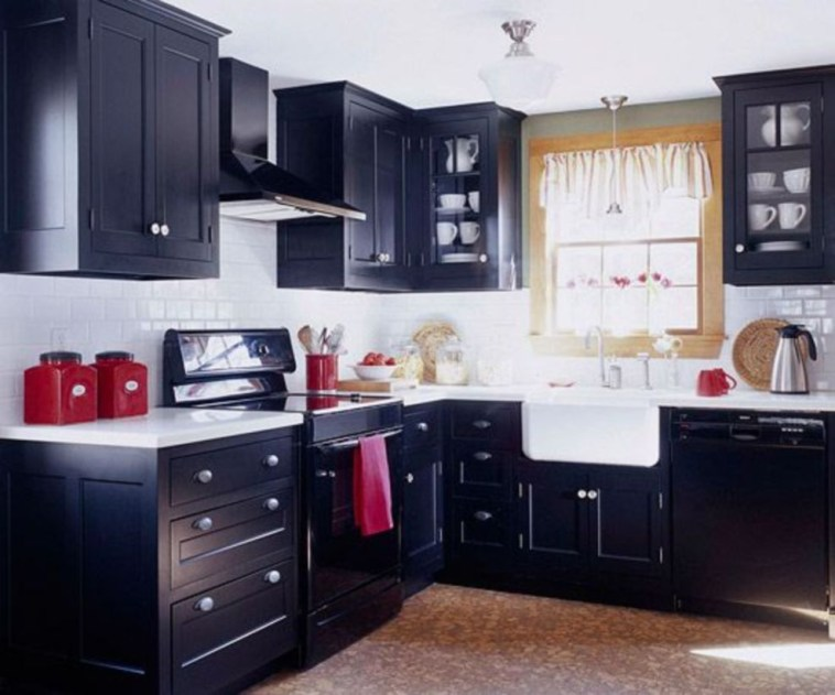Stylist and elegant black and white kitchen ideas 01