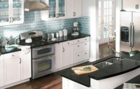 Stylist and elegant black and white kitchen ideas 27