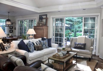 Adorable and cozy neutral living room design ideas 09