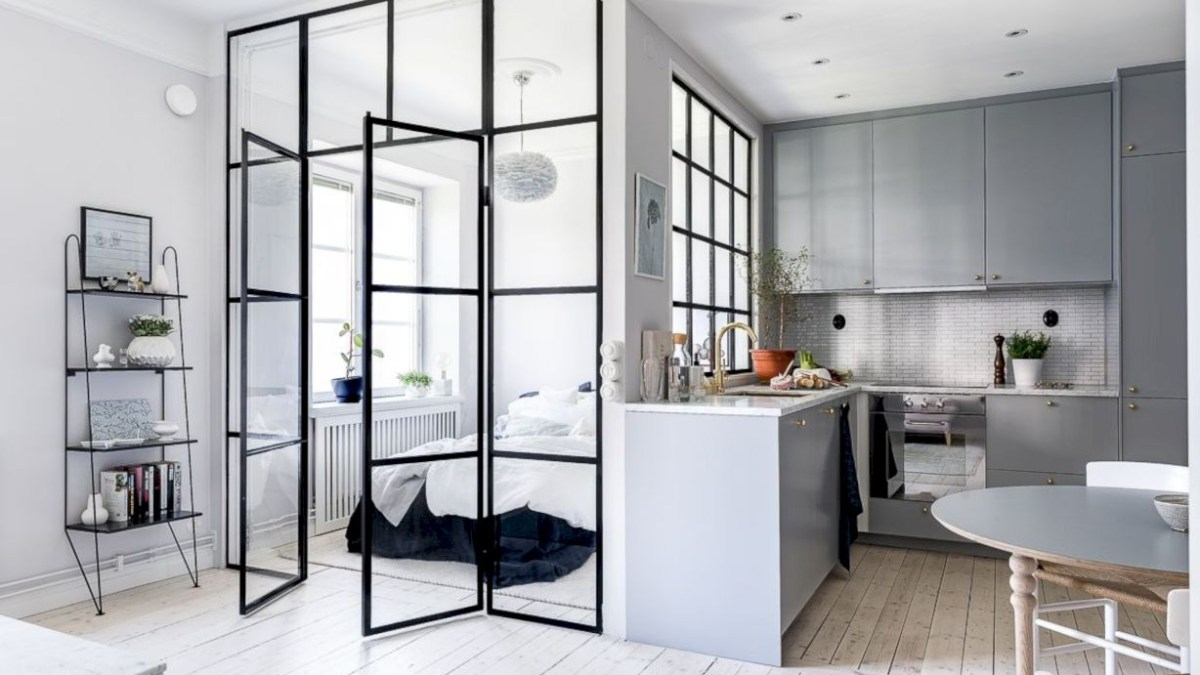 Brilliant small apartment ideas for space saving 42