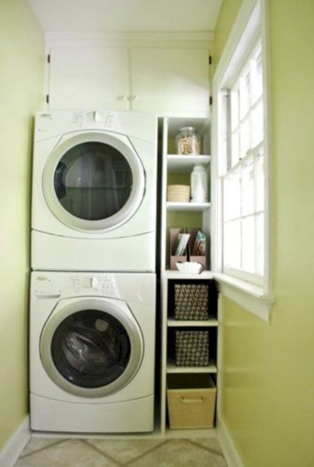 Laundry room storage shelves ideas to consider 04