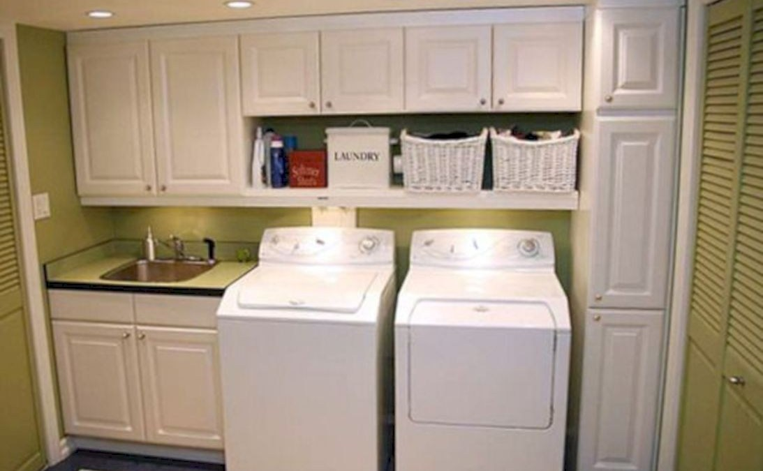 Laundry room storage shelves ideas to consider 06