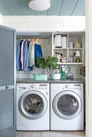 Laundry room storage shelves ideas to consider 11