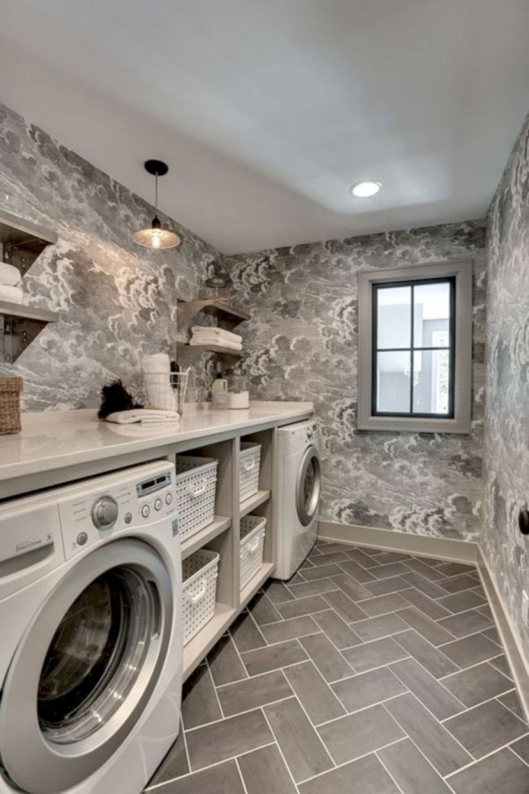 Laundry room storage shelves ideas to consider 25
