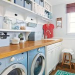 Laundry room storage shelves ideas to consider 26