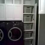 Laundry room storage shelves ideas to consider 27