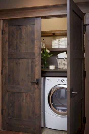 Laundry room storage shelves ideas to consider 30