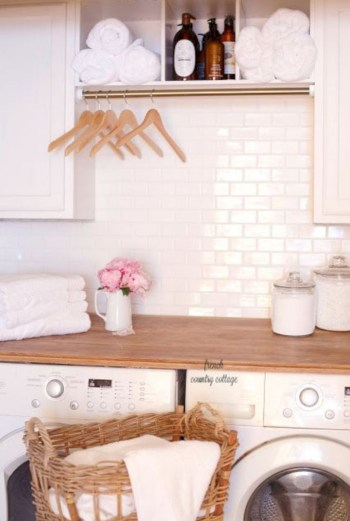 Laundry room storage shelves ideas to consider 31