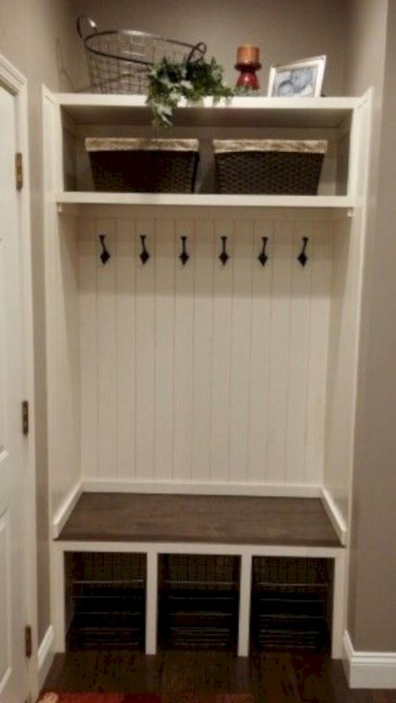 Laundry room storage shelves ideas to consider 34