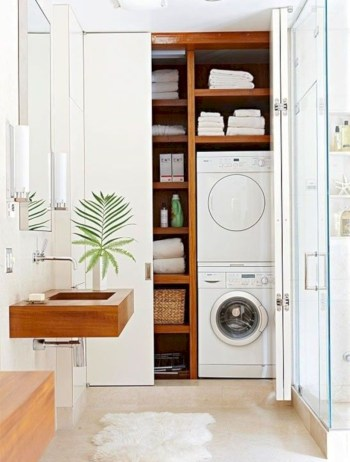 Laundry room storage shelves ideas to consider 44