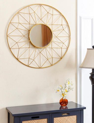Adorable round mirror designs to brighten up your small space 23