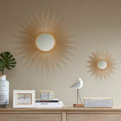 Adorable round mirror designs to brighten up your small space 33