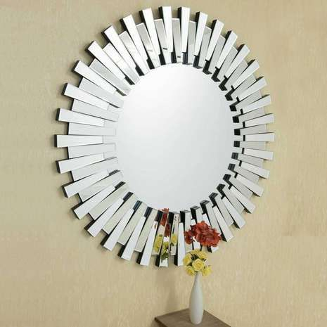 Adorable round mirror designs to brighten up your small space 49