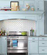 Modern herringbone pattern to give unique elements to your kitchen 07