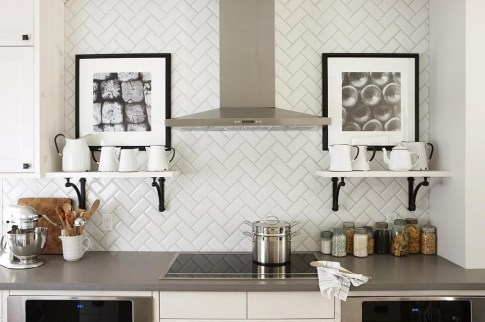 Modern herringbone pattern to give unique elements to your kitchen 09