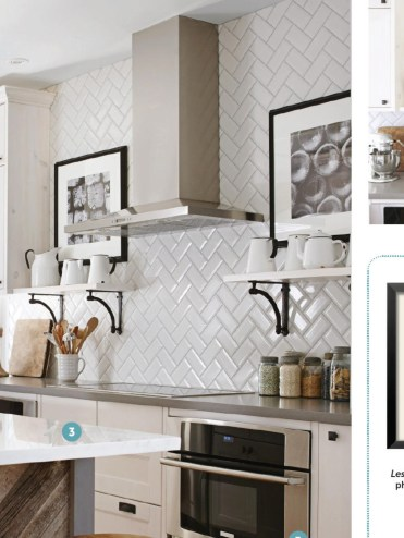 Modern herringbone pattern to give unique elements to your kitchen 23