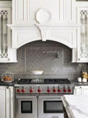 Modern herringbone pattern to give unique elements to your kitchen 25