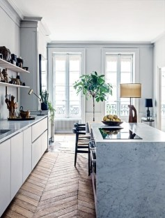Modern herringbone pattern to give unique elements to your kitchen 28