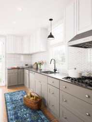Modern herringbone pattern to give unique elements to your kitchen 32