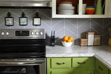 Modern herringbone pattern to give unique elements to your kitchen 34