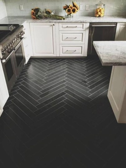 Modern herringbone pattern to give unique elements to your kitchen 40