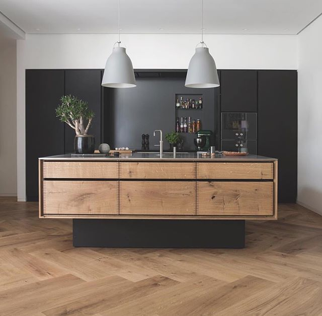 Modern herringbone pattern to give unique elements to your kitchen 41