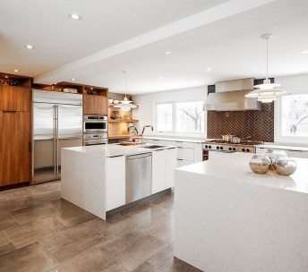 Modern herringbone pattern to give unique elements to your kitchen 43