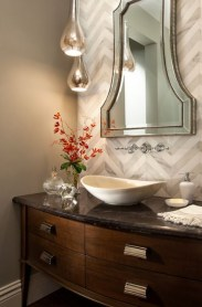 Stunning herringbone patterns for your bathroom wall 04