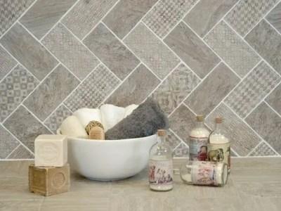 Stunning herringbone patterns for your bathroom wall 43