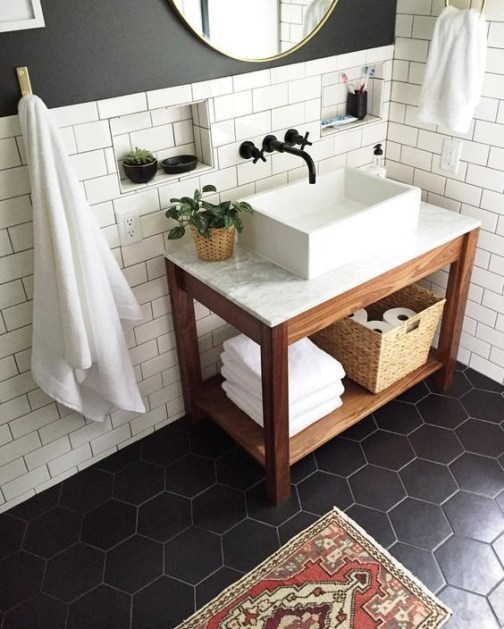 Unique honeycomb tile to give your bathroom a new look 02